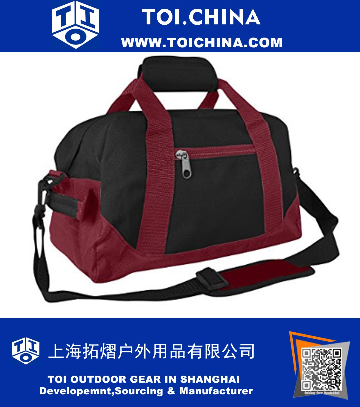 16964d6f17aea7 14 Inch Small Duffle Bag Two Toned Gym Travel Bag, TY-QC013 ...
