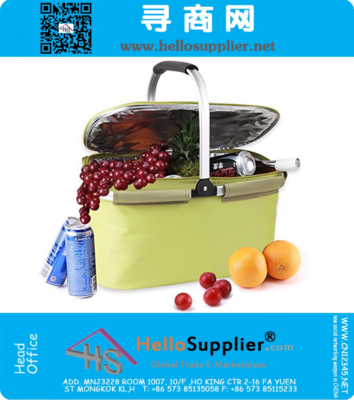 Collapsible Insulated Picnic Basket For 4 : L insulated picnic basket collapsible cooler bag