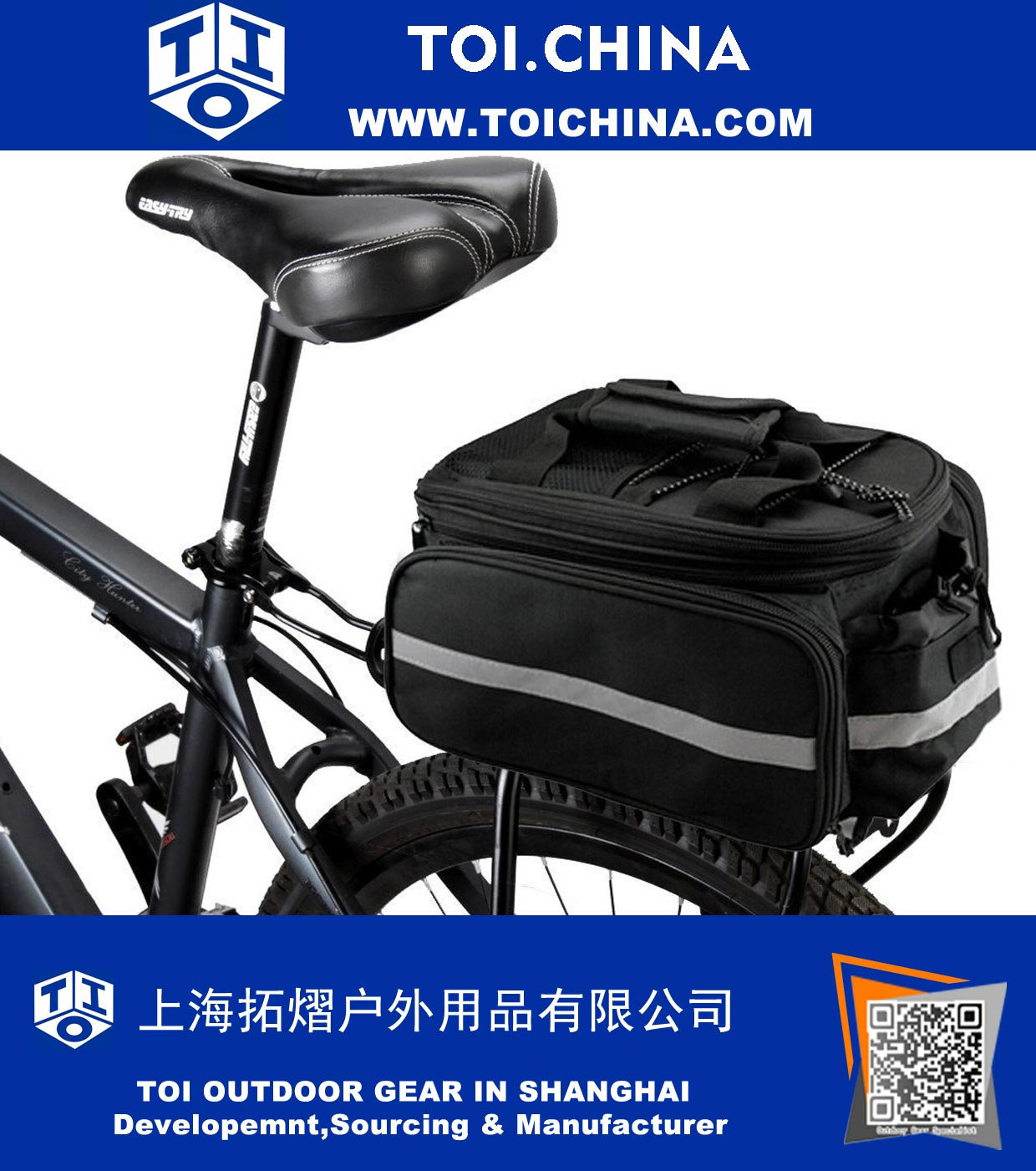Bicycle Cycling Back Seat Bag Waterproof Bicycle Bag Outdoor  Multi-functional Oxford Bike Bag with bd2bce9bd52da