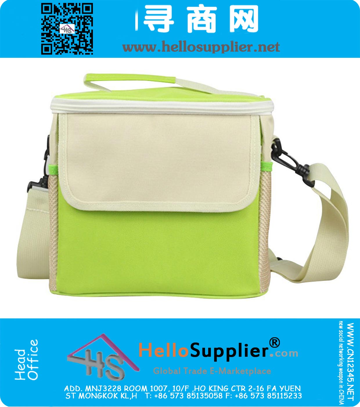 Freezable Lunch Bags Insulated Cool Shoulder Bag Lunch Box Container Picnic Cooler  Snack Tote Bag Travel c9db83ff441eb
