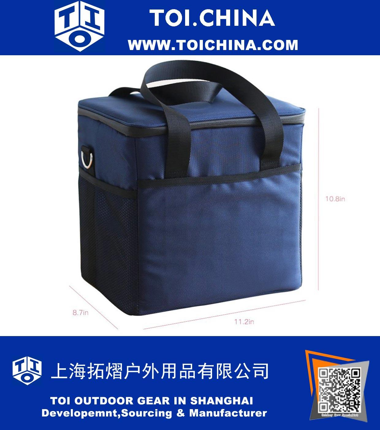 À Résistant Premium Sac Box Foncé Bleu Cooler Lunch Isolé Fznqpw1