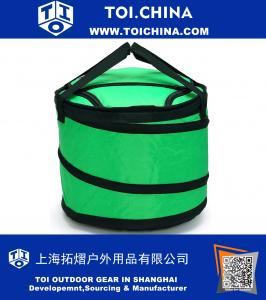 30-can Collapsible Soft cooler bag for Party, Golf, Grocery, Picnic, Car, Leakproof Liner, Fits in Suitcase, Green