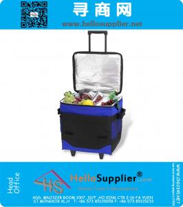 60 Can Collapsible Insulated Rolling Cooler Bag