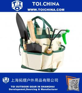8.25 in. Garden Tool and Tote Set