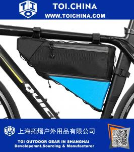 Bicycle Frame Bag Waterproof Bike Cycling Front Triangle Bag Mountain Road MTB Bicycle Front Top Tube Bag Bike Pouch Front Saddle Bag 3L+1L