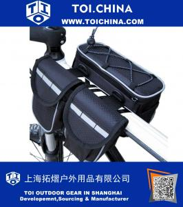 Bicycle Saddl Seatpost Bag Frame Pannier Top Tube Bag Fashion Fixed Gear Pannier Saddle Rear Rack Seat Bag