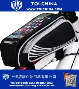 Bicycle Top Tube Bag Large Valume Phone Bike Frame Bags For Smartphone below 5.5 inch
