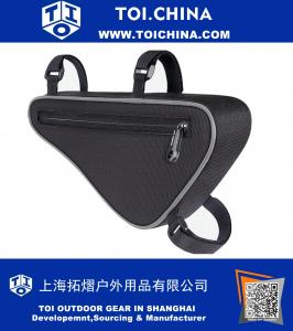 Bicycle Triangle Frame Bag, Bike Frame Front Triangle Tube Bag Cycling Pipe Pouch Tool Bag