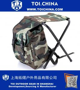 Camouflage Backpack Cooler Bag Chair High-Intensity Steel Cross for Fishing Camping