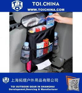Car seat organizer cooler bag with box storage bag