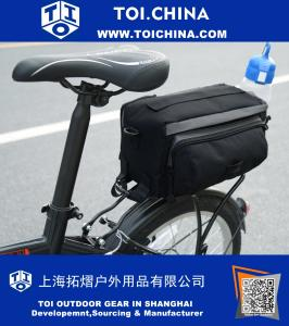 Cycling Bicycle Bike Pannier Rear Seat Bag Rack Trunk Storage Pack Travel As Shoulder Also Bag or Handbag