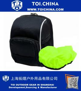 Cycling Bike Bicycle Handlebar Bags Front Baskets Black with Rain Cover