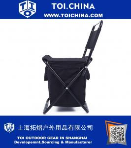 Foldable Chair With cooler bag For Camping, Fishing, Watching Sports Events, Tailgating, Hiking, Picnics