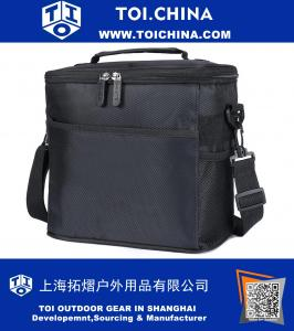 Insulated Bag, Lunch Tote Bag Box Cooler Bag Silver Interior and Long Handles Picnic Cold Drink Insulation Cooler Bag Freezable Keep Food and Drinks Cool