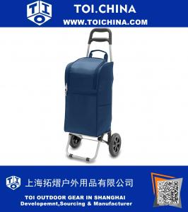 Insulated Cart Cooler with Wheeled Trolley