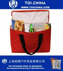 Insulated Grocery Bag Cooler Tote Extra Large Heavy Duty Nylon Zipper Closure and Inside Pocket