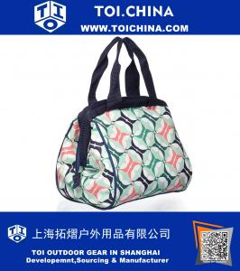 Insulated Lunch Bag with Zipper Closure and Ice Pack, Ideal Size for Work or School