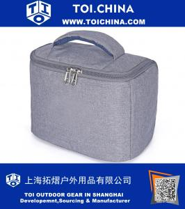 Lunch Bag Mini Picnic Cooler Bag for outdoor Fishing,Camping and Hiking Gray