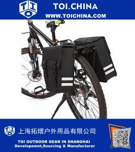 Mountain Bicycle Double Luggage Pannier bag With Rainproof Cover
