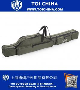 Portable Folding Fishing Rod Carrier Canvas Fishing Pole Tools Storage Bag Case Fishing Gear Tackle Bag