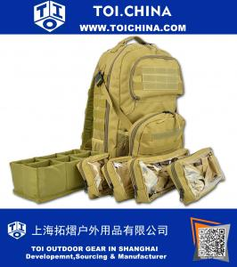 Premium Tactical Medic Backpack Modular Pouches And Hydration Port