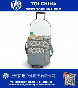 Rolling Cooler- Mosaic - Rolling Cooler With Insulated Leak Proof Lining