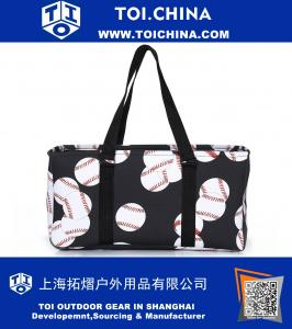 Tote Bag All Purpose Open Top Classic Extra Large Utility Sports Prints Tote Bag Car Organizer