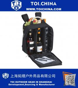Wine And Cheese Back Pack With Thermal Foil Insulated Cooler